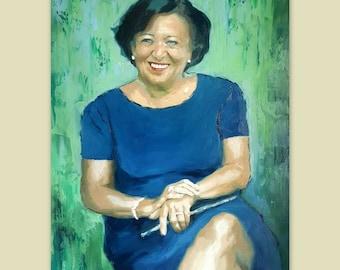 """Custom Portrait - Oil Canvas - Child Portrait Family Portrait Wedding Portrait - Pop Art Portrait Painting Palette Knife - 20"""" x 16"""""""