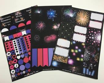 Fireworks Mini Collection - Planner Stickers - Erin Condren - Happy Planner