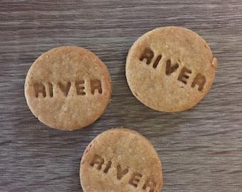 personalized organic peanut butter dog treats