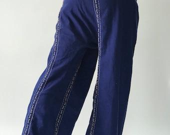 TCZ Hand Sewing Inseam design for Thai Fisherman Pants Wide Leg pants, Wrap pants, Unisex pants