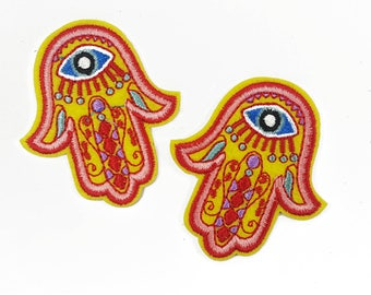 Embroidered Hamsa Evil Eye Patch Badge Applique fro Iron On