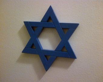 Jewish Star Magen David Durable Plastic 6 Inch Molded Blue