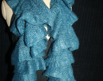 scarf fancy frou-frou mohair and acrylic