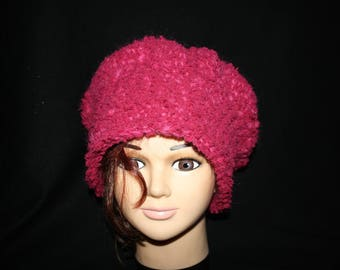 very soft and very warm wool and velvet Hat