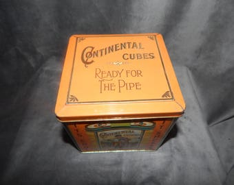 Vintage Continental Cubes Tobacco Tin