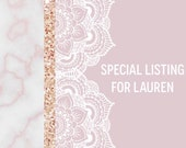 Special Listing for Lauren - Custom Bridal Gray Cuff with Purple Druzy