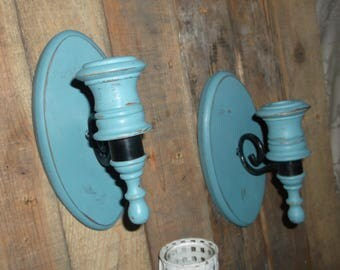 Pair of Vintage Candle Sconces Vintage Wall Sconces