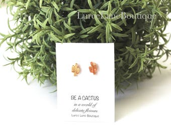 Cactus earrings/Cacti Earrings/Valentine's Day earrings/Valentine's Day gift/Cactus studs/Cactus jewelry/Gift for her/Small stud earrings
