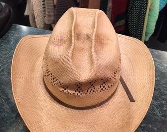 Straw Cow Boy Men 1950's Hat