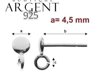 4 X brackets for rod 925 sterling silver stud earring