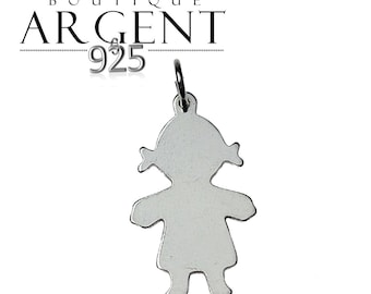 Pendant Silver 925 23X12mm girl