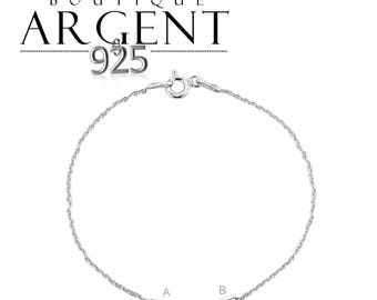 Fine 925 sterling silver chain of 15 cm with possibility of adding a connector