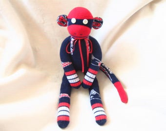NFL Sock Monkey New England Patriots Stuffed Animal Toy Plush Doll