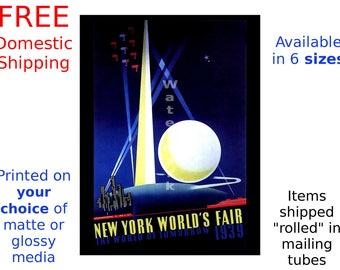 1939 New York Worlds Fair #3 - Vintage Art Deco Poster/Print (186869919)