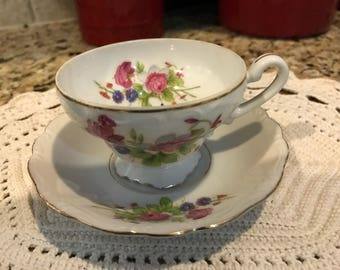 Vintage china tea cup and saucer. Made in occupied japan.