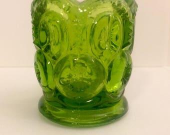 Vintage Green Glass Votive Holder
