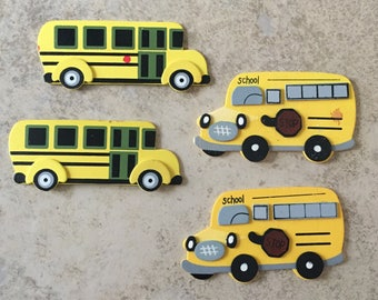 Schoolbus Wood Cutouts