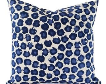 Two Dots Pillow Covers - Blue Throw Pillow Covers - Custom Pillow Cover - Blue Pillow Sham - Decorative Pillow - Lumbar Pillow Sham
