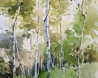 Landscape Painting, Landscape Watercolor, Landscape Art, Landscape Wall Art, Original Watercolor