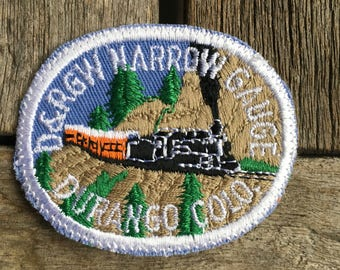 D&RGW Narrow Gauge Railroad Durango Colorado Vintage Souvenir Travel Patch