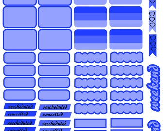 BLUE_Monochrome Sheet_EC_HP PRINTABLE Planner Stickers