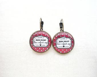 Good point to wise child cabochons earrings