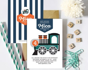 Train Invitations (Personalised DIY Printables)