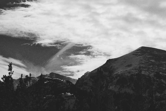 Looming Mountains Black and White Fine Art Photography Print