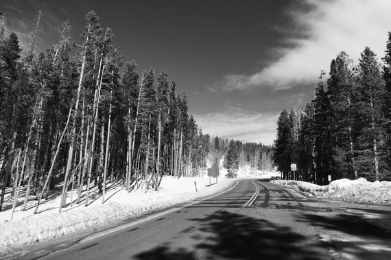 Fine Art Photography | Mountain Corridor Black and White  Print | Wall Art
