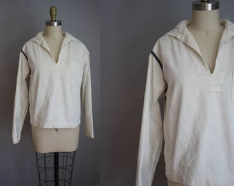 AS-IS 1930s Sailor Top // Cotton Canvas // Medium