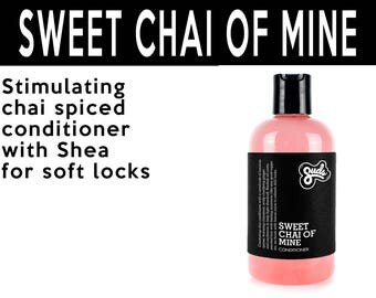 Sweet Chai of Mine Conditioner. Fair Trade Organic Vegan Cruelty-Free Cosmetics. 5% of Proceeds Proudly Go To Grassroots Charities