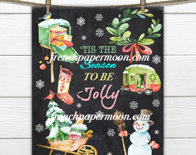 Digital Chalkboard Christmas, Holiday Printable Art Print, Christmas Party Decor, Table Print, Wall Art, Christmas Crafts