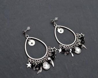 Earrings 'Coline' swarovski crystal, metal