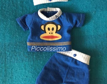 "7"" blue monkey set"