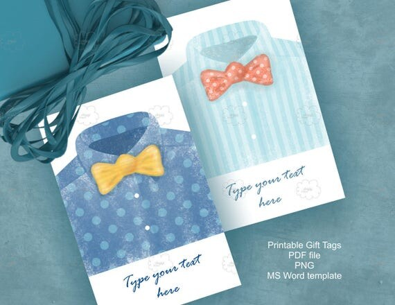 Watercolor Father's Day gift tags