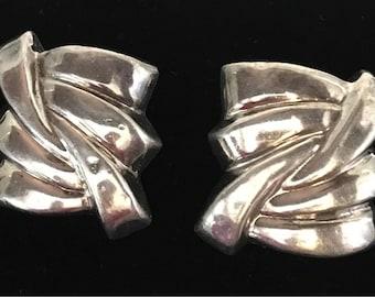 Clip on 925 silver earrings