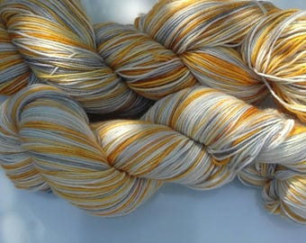 Handpainted handdyed superwash merinonylon sock and sport yarn 100g.