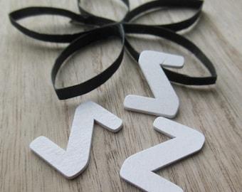 set of 3 letter z wood