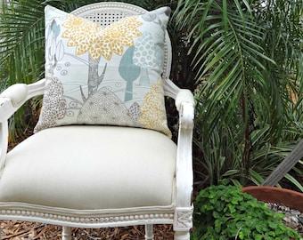 P Kaufmann Linen Pillow Cover/ 20x20 Pillow Cover/ Natures Haven Slub Dove/ Accent Decorative Toss Pillow/ Custom Linen Designer Pillow
