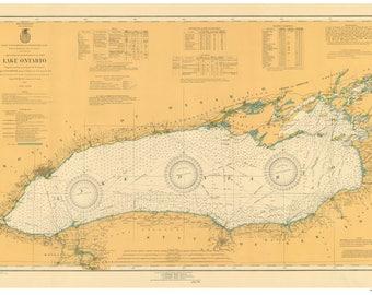 Lake Ontario 1920 Nautical Map Reprint - Great Lakes 002