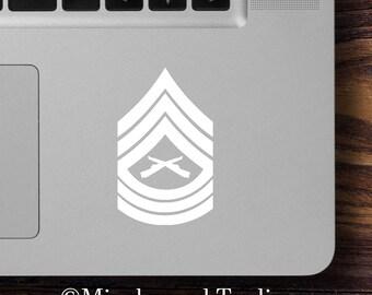 "2x USMC E-8 Master Sergeant Insignia 2.5"" x 1.5"" Vinyl Decal Stickers E8 - MSgt Marine Corps *Free Shipping*"