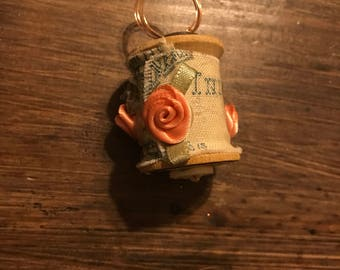 Vintage Spool Hanging Ornament