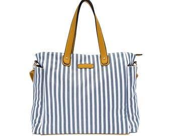 Striped Weekender Tote Bag - Lux - Diaper Bag