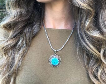 Turquoise Necklace, Turquoise Necklace, Afghan Jewelry, Bohemian jewelry, Unique Necklace