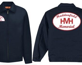 Haddonfield Memorial Hospital work jacket 80's slasher