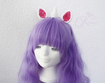 Unicorn headband (white)