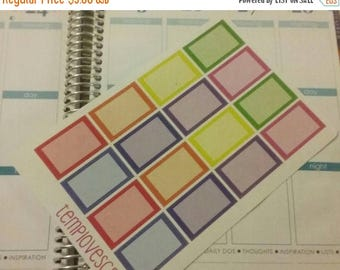Weekend Sale 16 Half boxes for Erin condren life planner