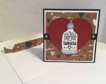 Sriracha Valentines Day Card V37