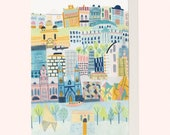 Sunny Melbourne Greeting Card