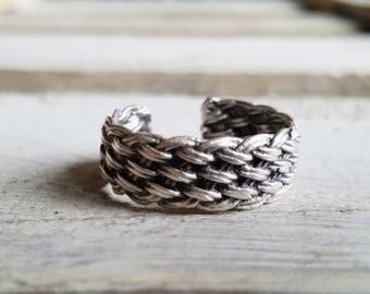 "Ring adjustable ""braided"" for men"